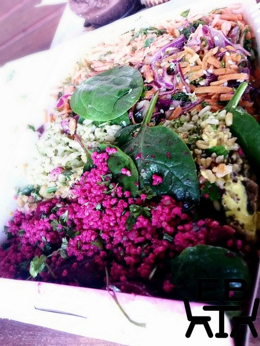An assortment of Botanica salads in a family-size box.