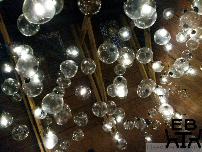 Ceiling lights.
