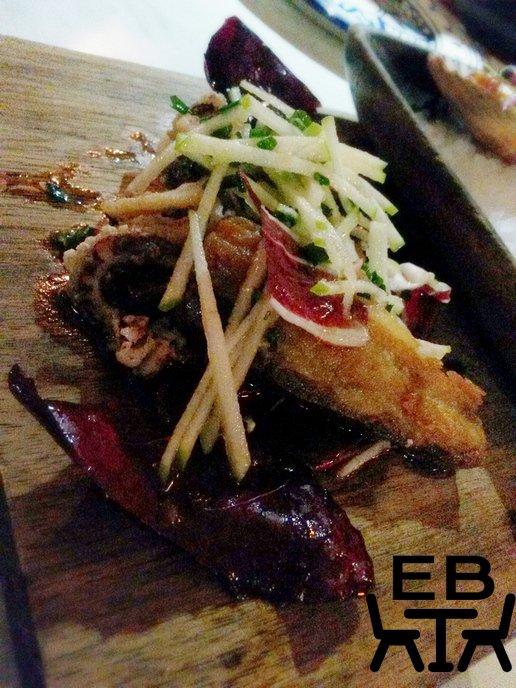 Fried pork belly with South Ocean calamari.