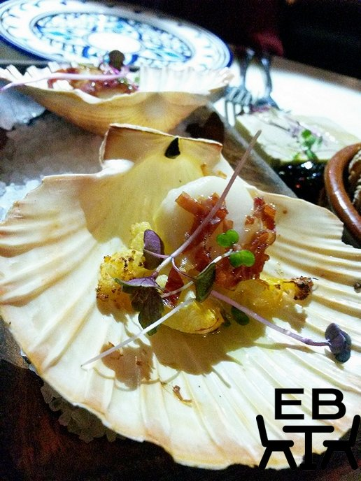 Hervey Bay scallops with cauliflower escabeche and Jamon.