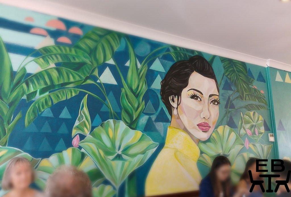 Cafe O Mai mural
