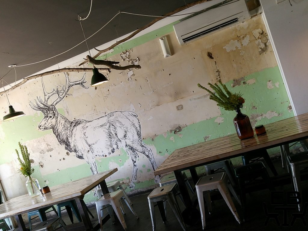 Elk espresso mural