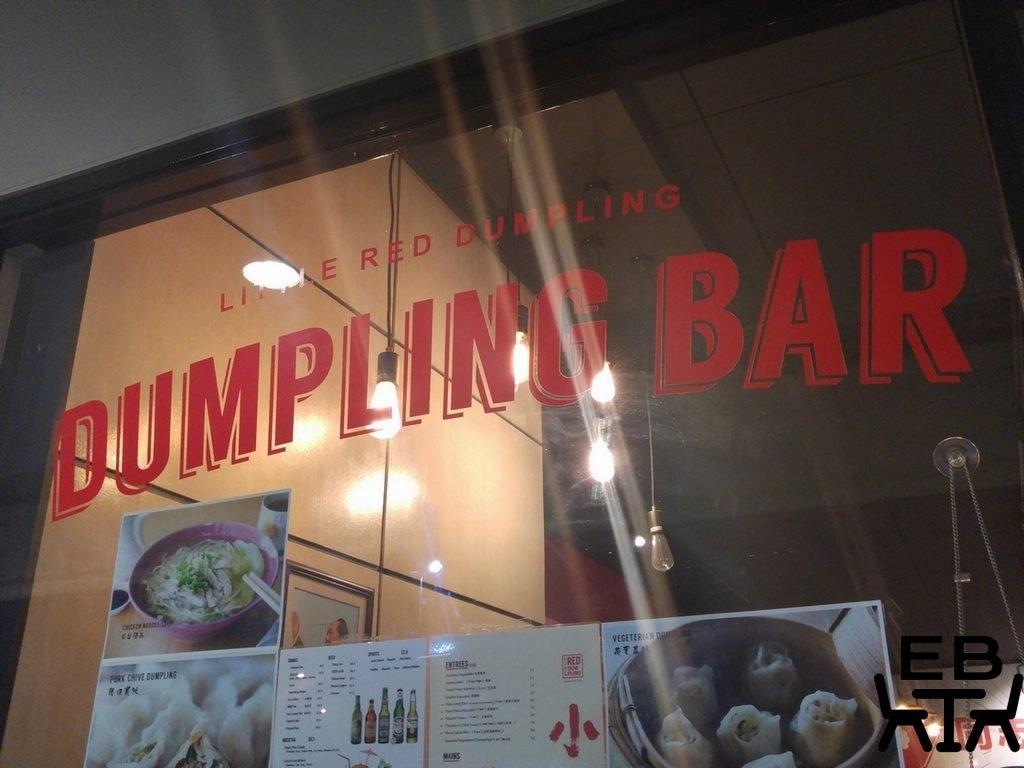 Little red dumpling sign