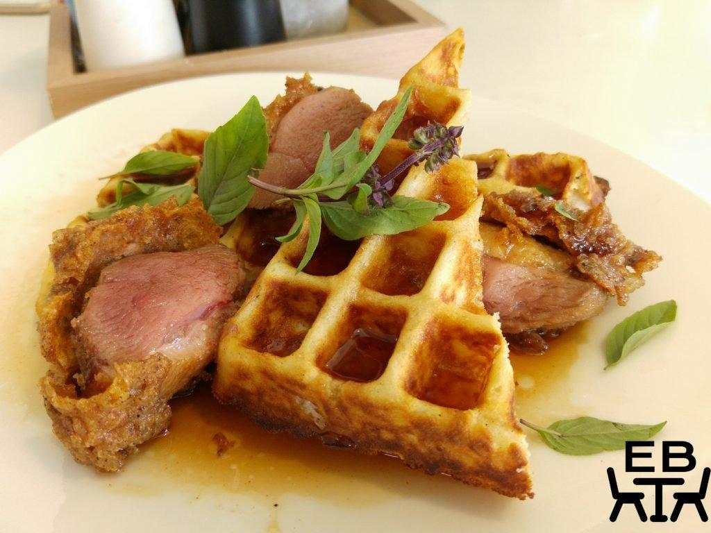 'Northshore harbour duck waffles