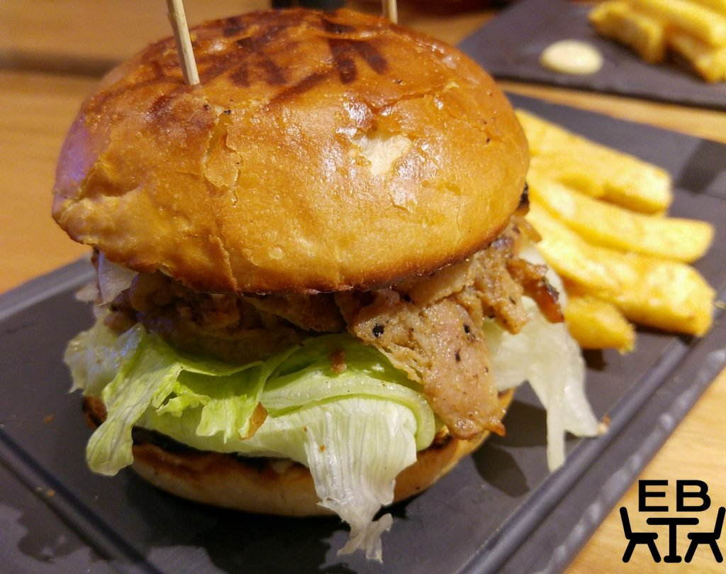 Miel container miso pork belly burger