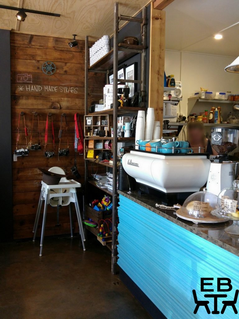 Shutter and brew counter
