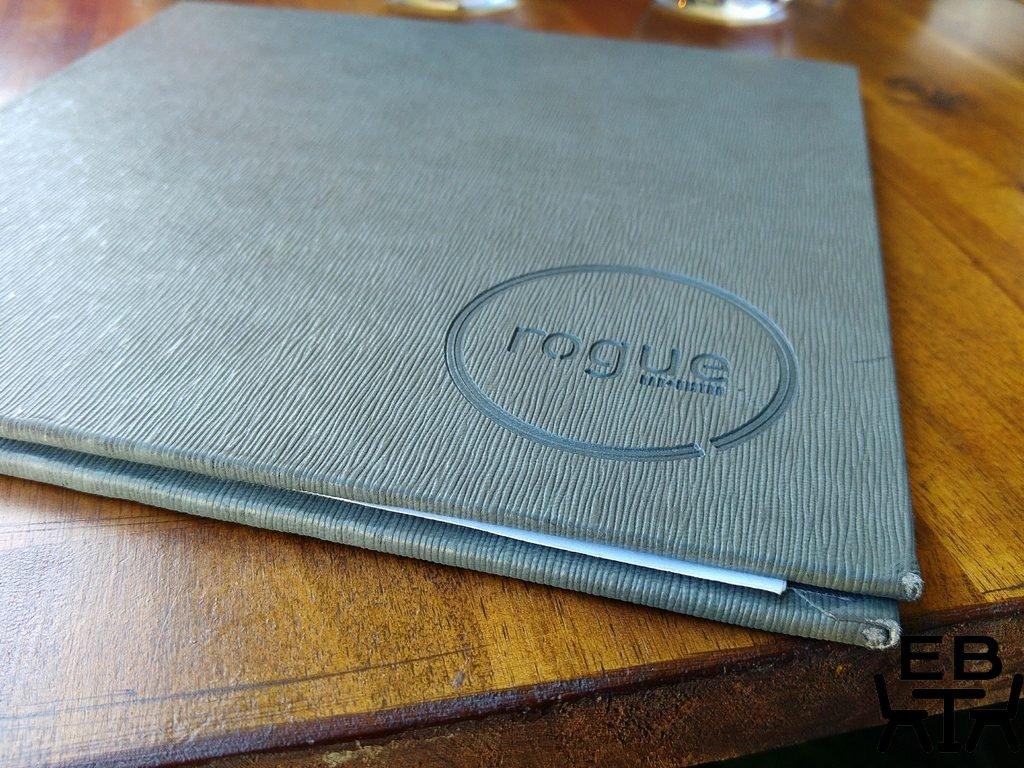 Rogue bar and bistro menu