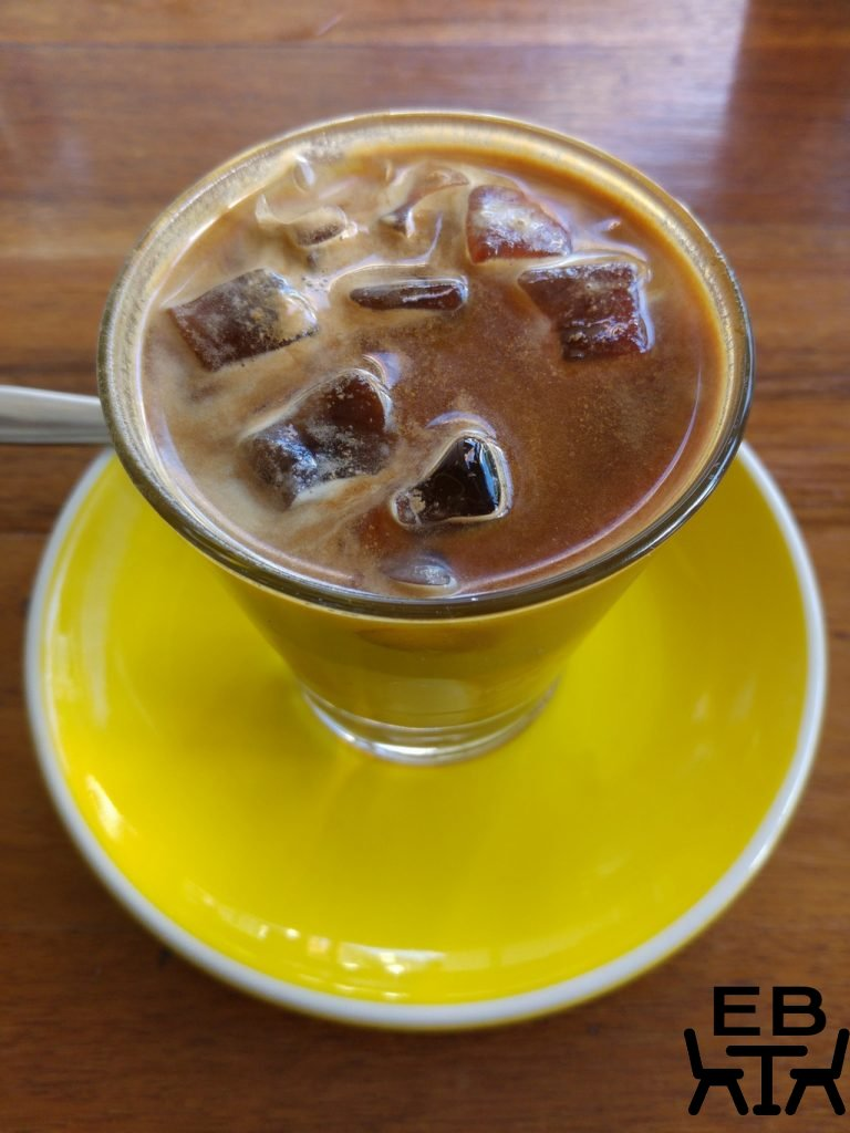 Two little pigs iced latte