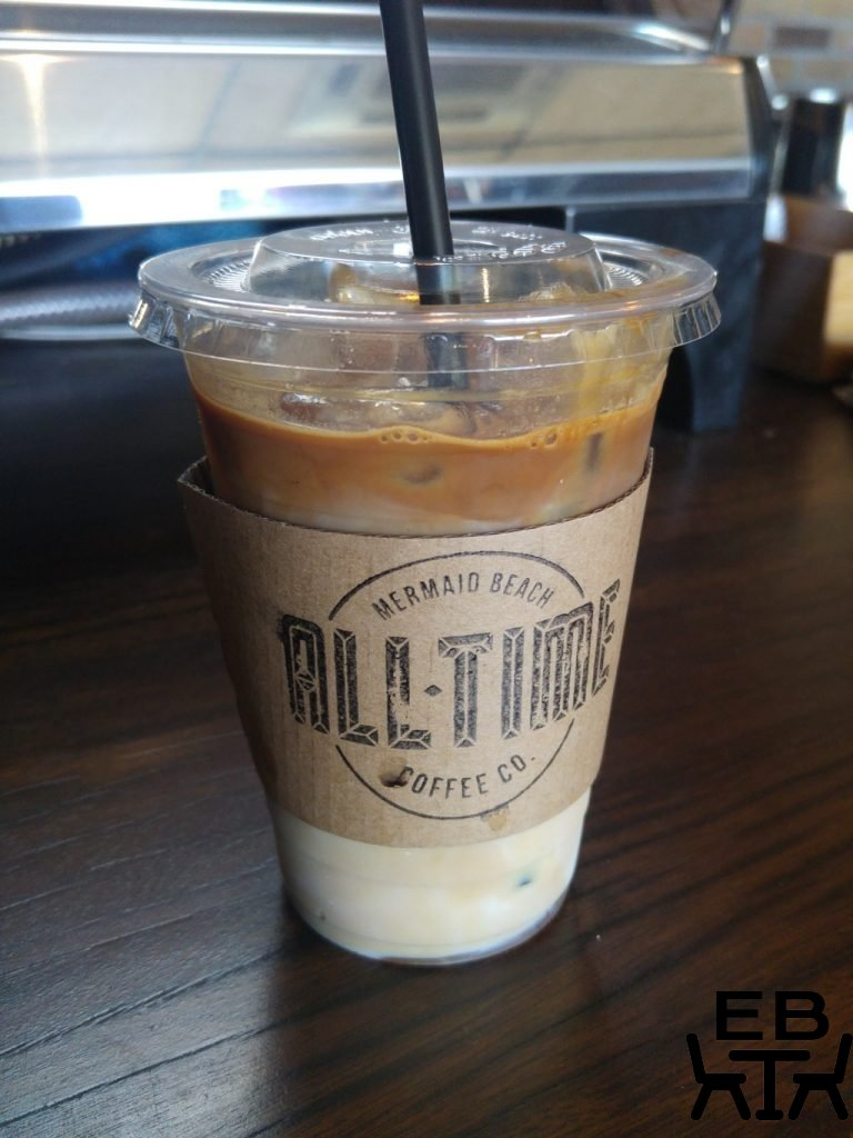 All time coffee iced latte