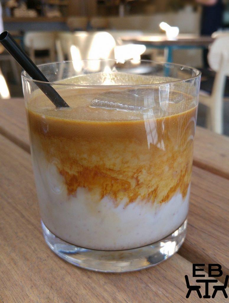 Horse on heels iced latte