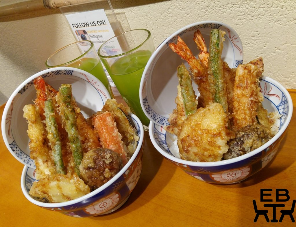 Tempura kohaku dishes