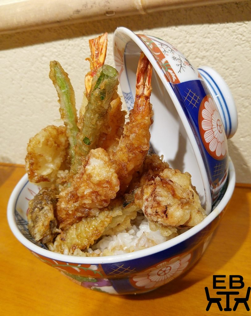 Tempura kohaku tendon