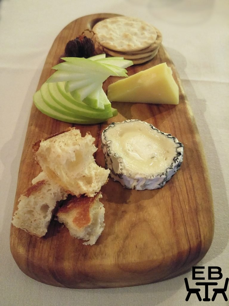 Restaurant two cheese platter