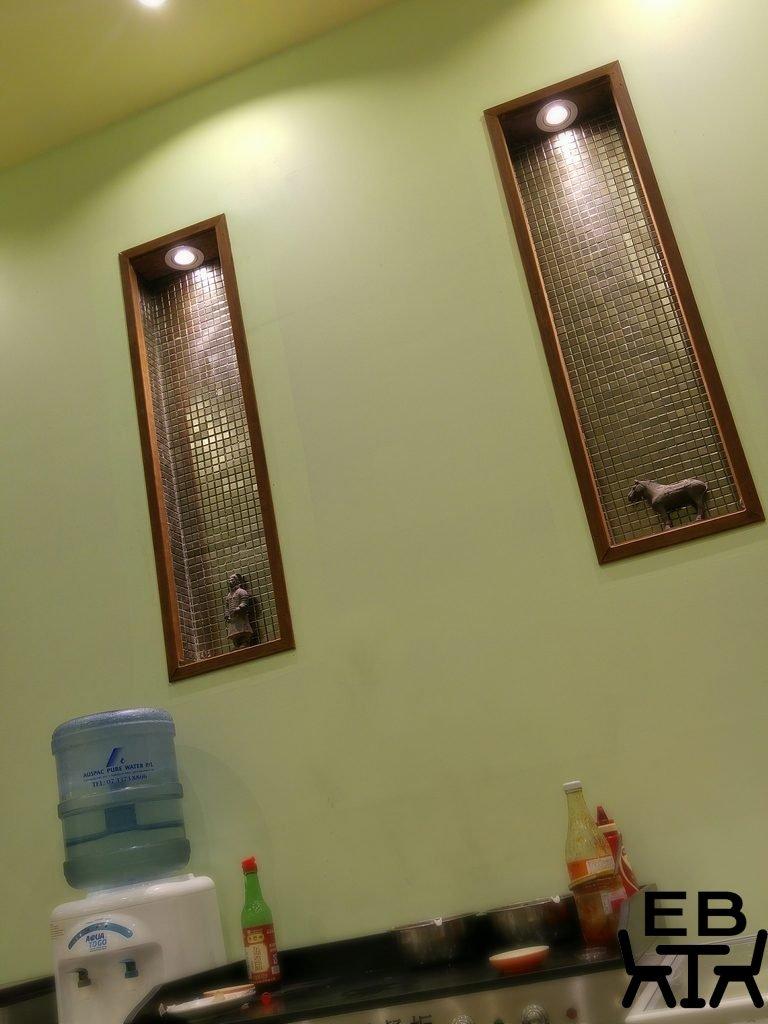 Golden dumpling wall