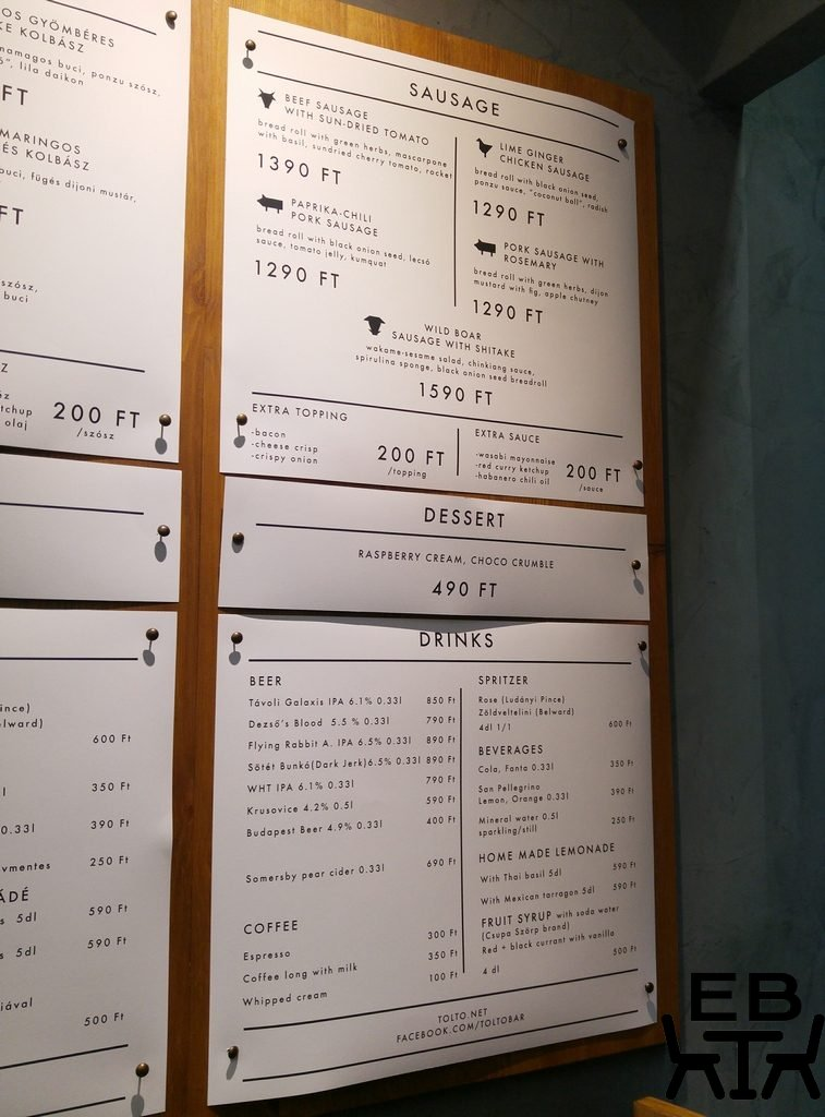 tolto menu