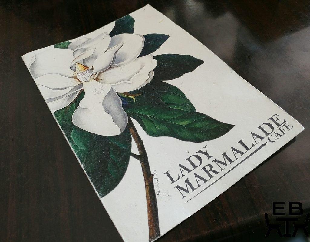 lady marmalade menu