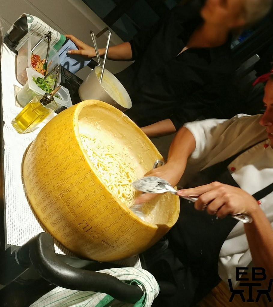 il verde cheese wheel pasta