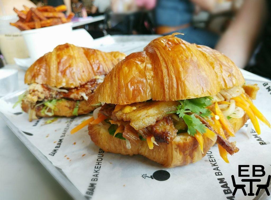 bam bam bakehouse croissant sandwiches