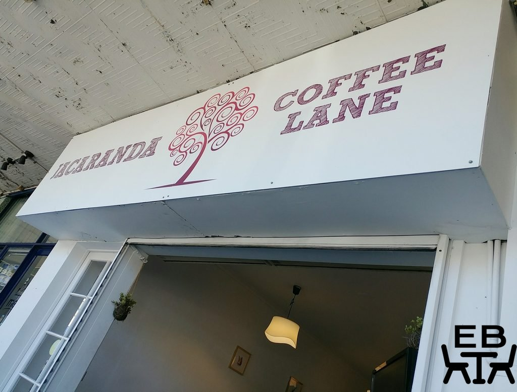 jacaranda coffee lane sign