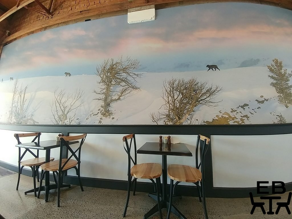 where the wolves eat mural