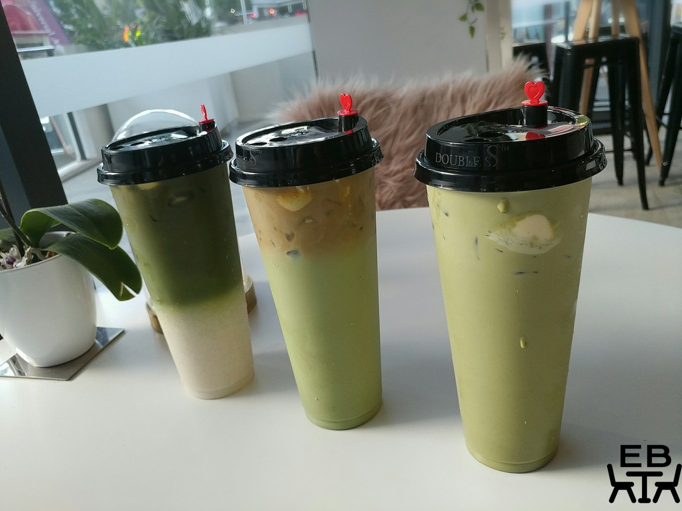 cafe artease dirty matcha floats