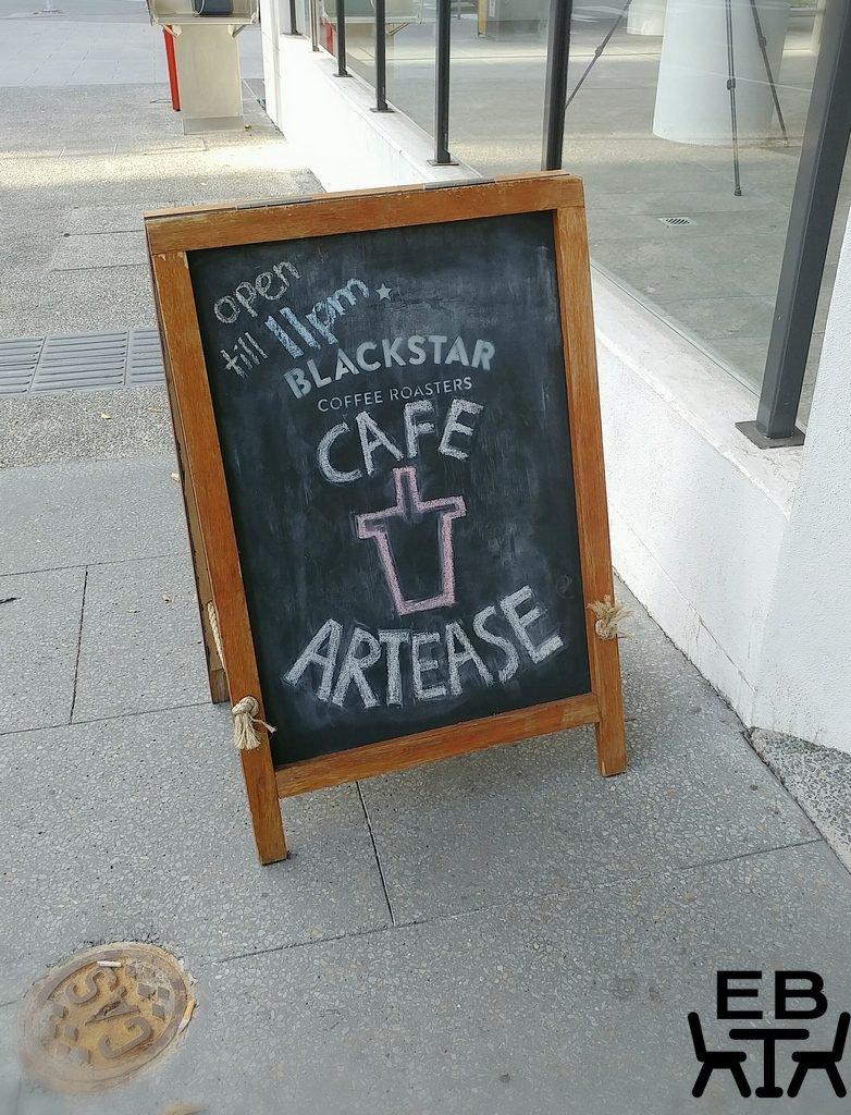 cafe artease sign