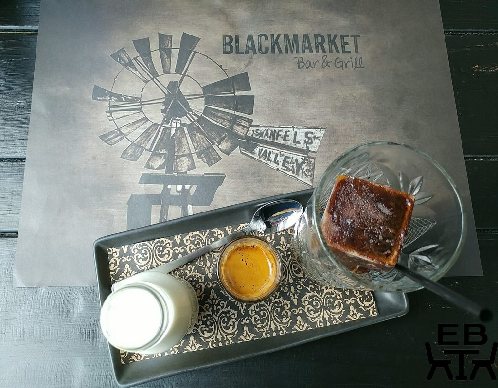 black market bar and grill iced coffee