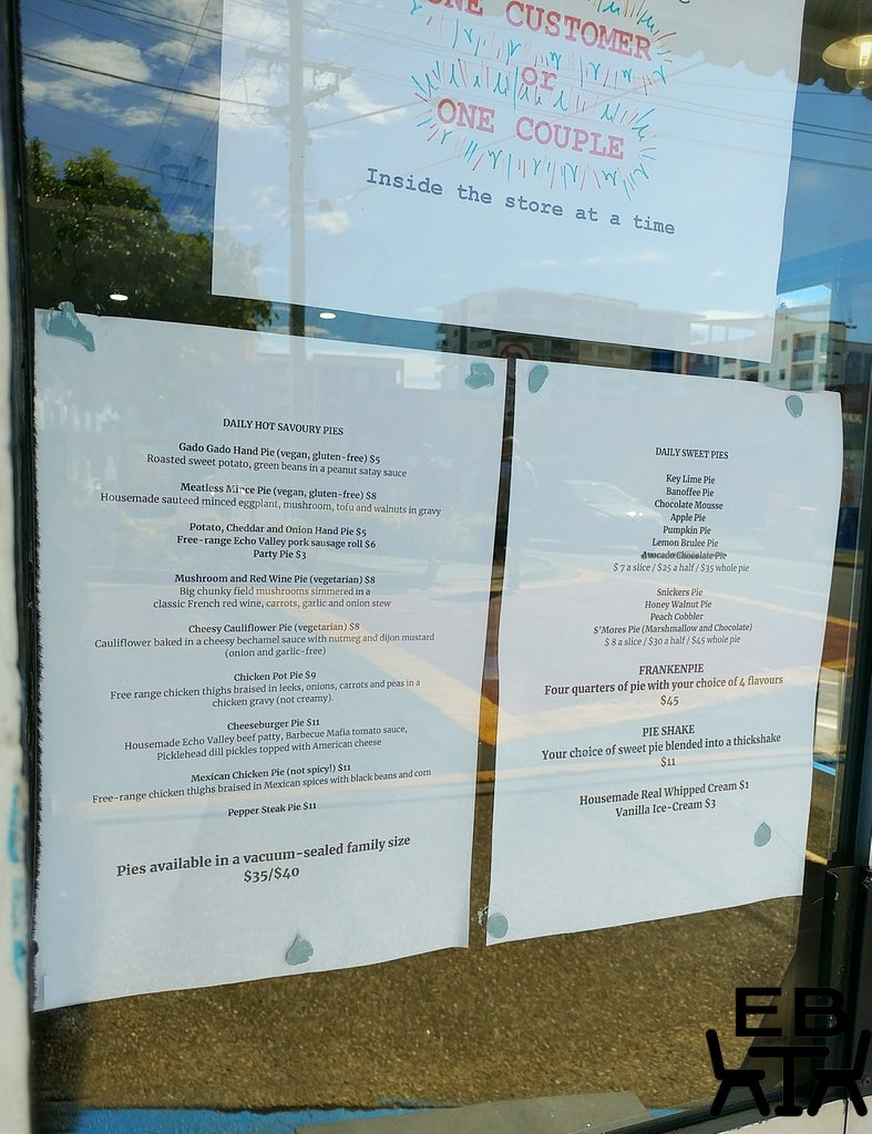 pie town menu
