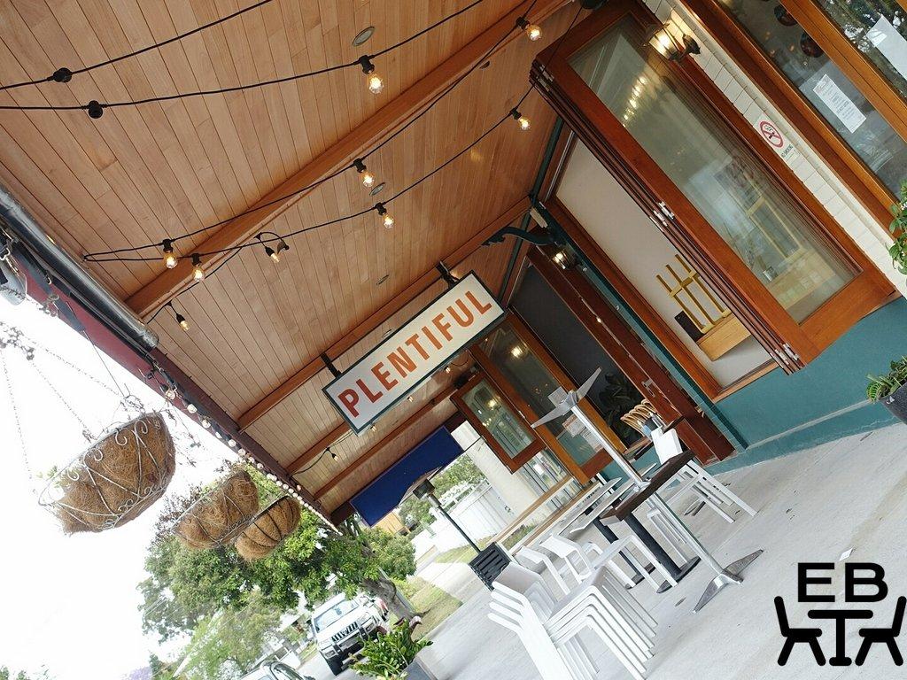 plentiful cafe outside