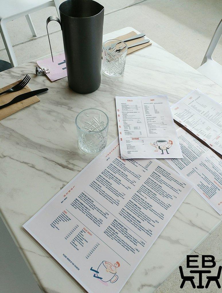 plentiful cafe table