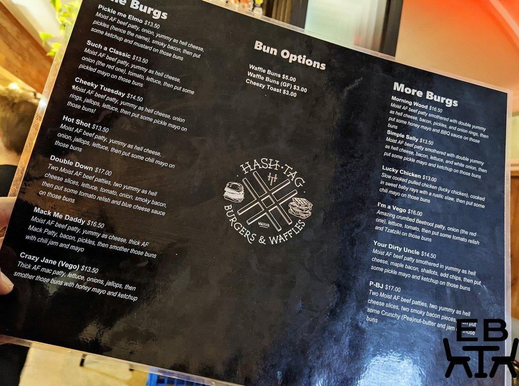 hashtag burgers and waffles menu